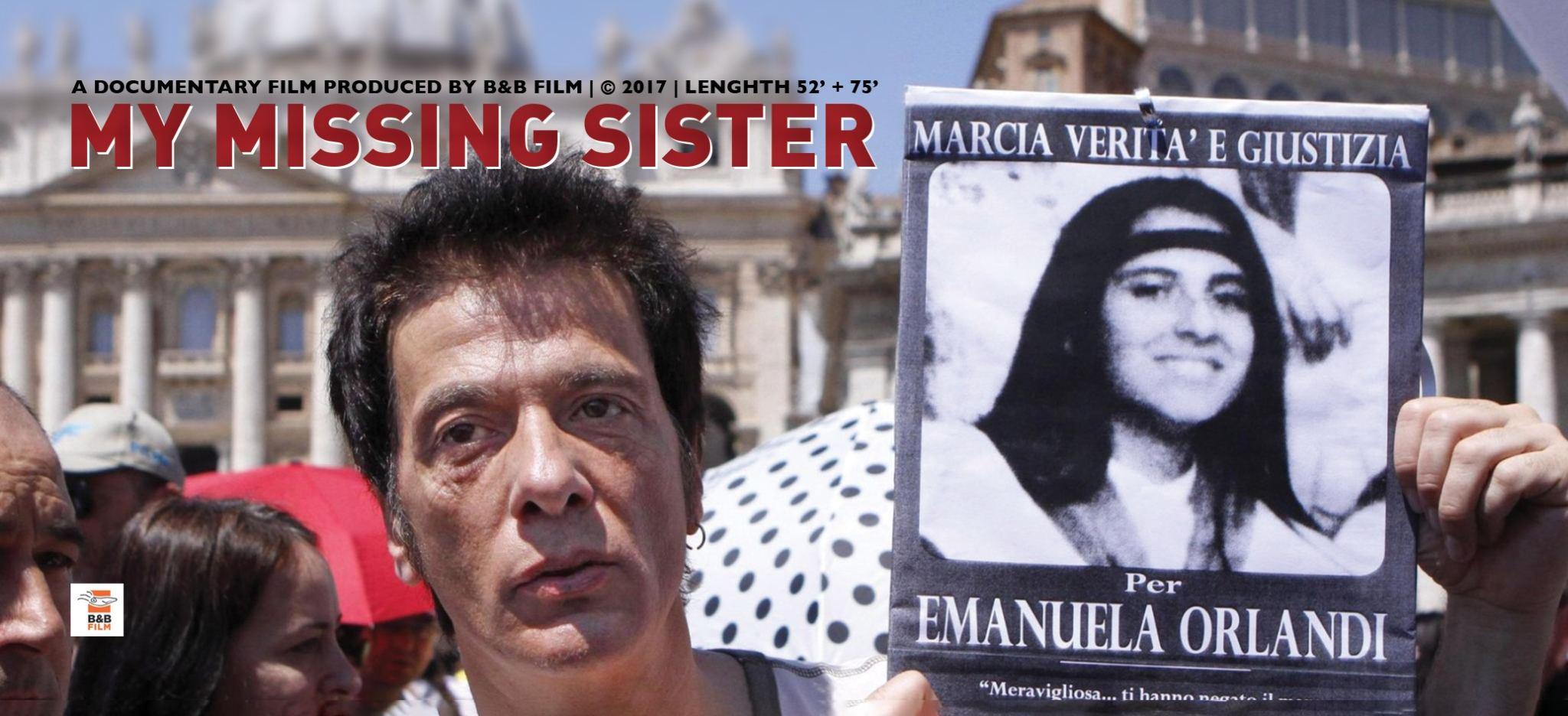 Emanuela Orlandi, trent'anni dopo. My Missing Sister (B&B Film, Film Production) di Alessandra Bruno, progetto del MIA|DOC Pitching Forum