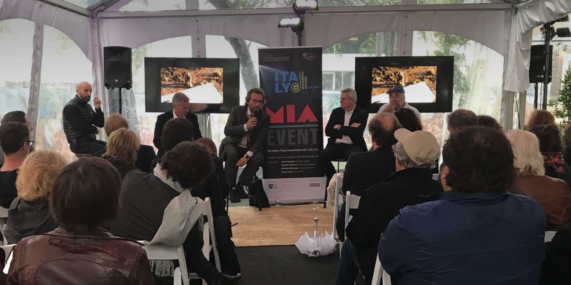 A seminar at the Toronto Festival on the relationship between Mia and North American industry