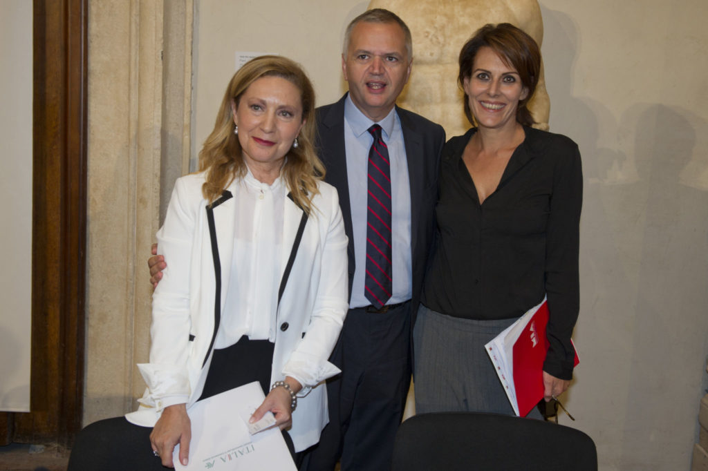 Maria Ines Aronadio (ICE Officer at the Coordination office for the Promotion of Made in Italy), Nicola Borrelli (MIBAC General Director for Cinema), Lucia Milazzotto (Executive Director)