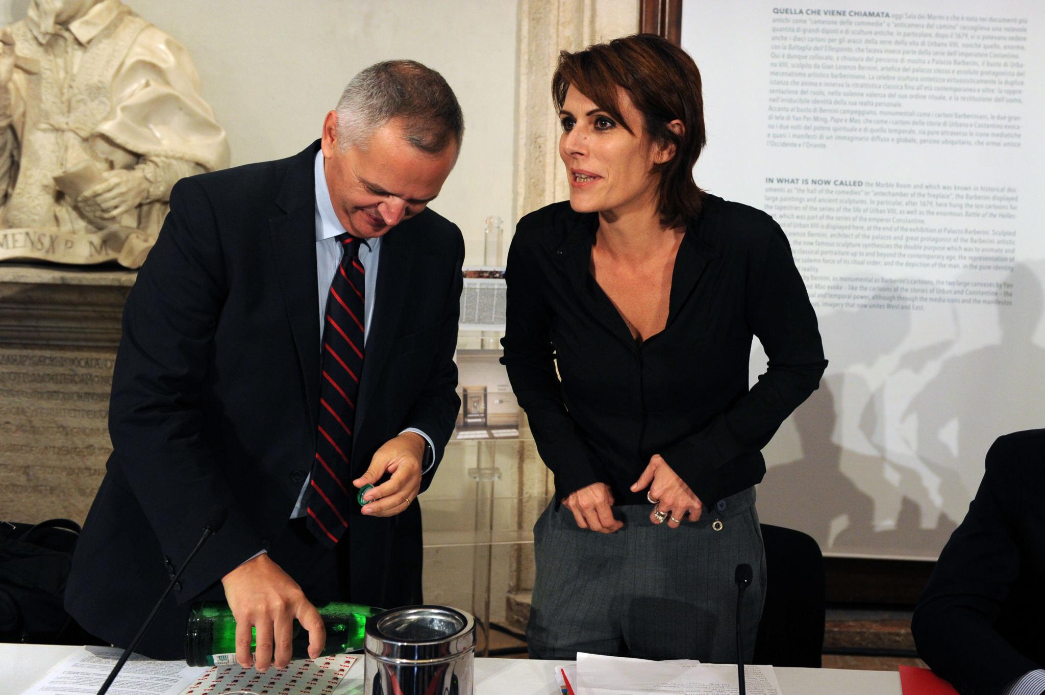 Nicola Borrelli (MIBAC General Director for Cinema), Lucia Milazzotto (MIA Executive Director)