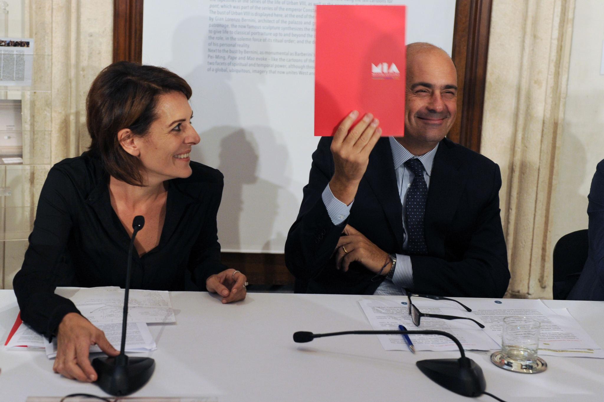 Nicola Zingaretti (Lazio Region President), Lucia Milazzotto (MIA Executive Director)