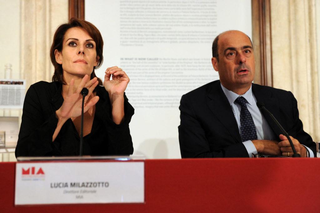 Nicola Zingaretti (Lazio Region President) Lucia Milazzotto (MIA Executive Director)