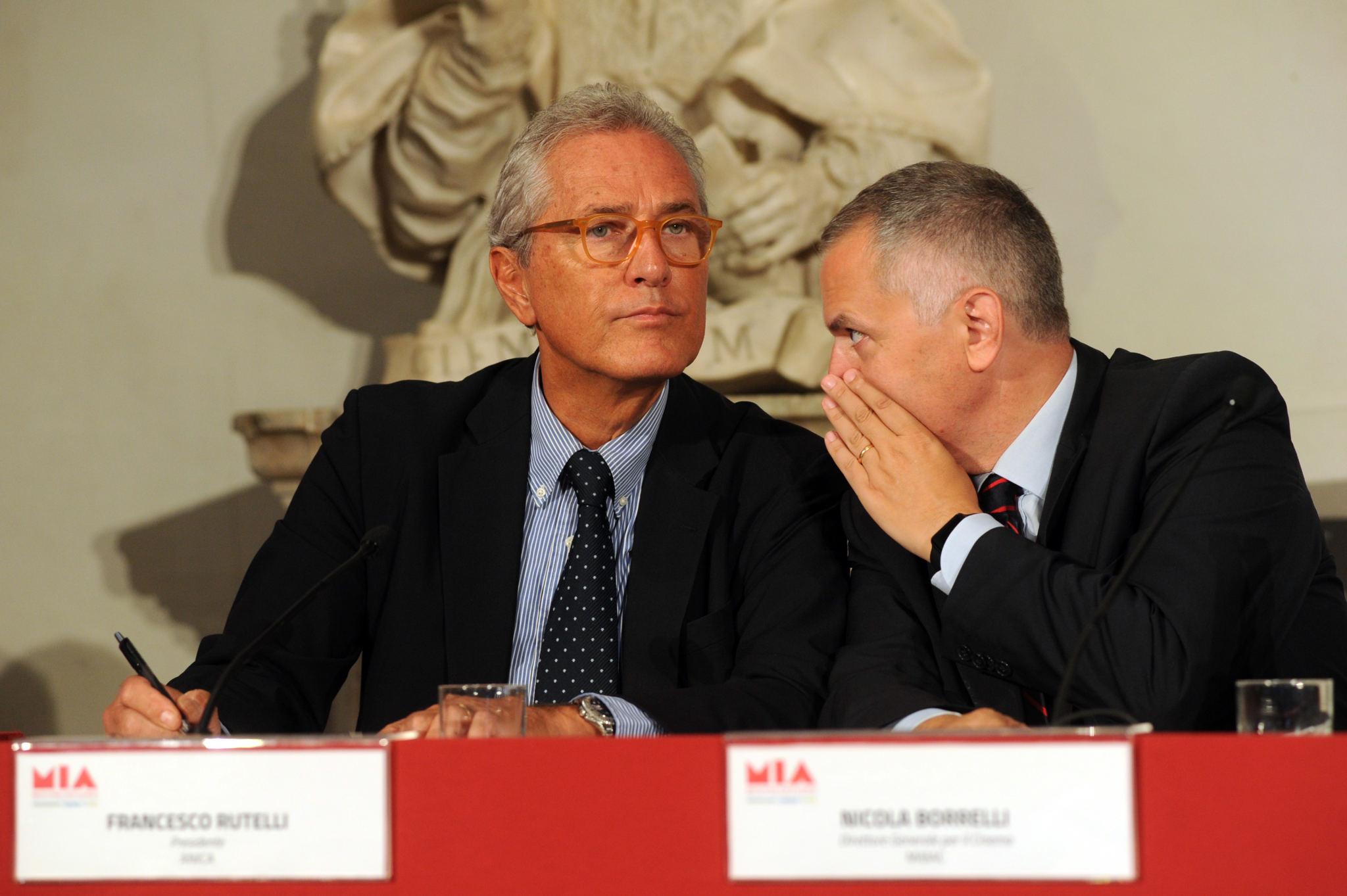 Francesco Rutelli (ANICA President), Nicola Borrelli (MIBAC General Director for Cinema)