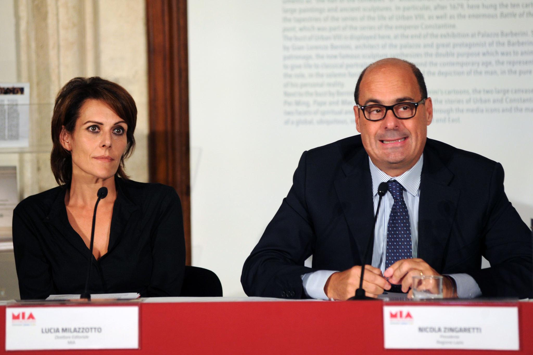 Lucia Milazzotto (MIA Executive Director), Nicola Zingaretti (Lazio Region President)