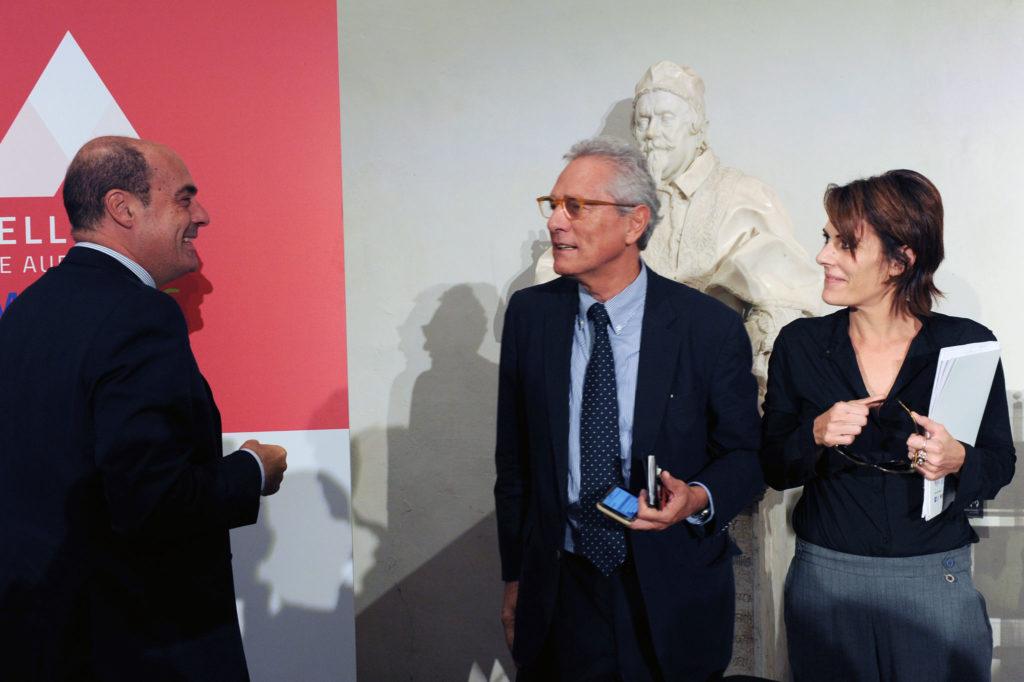 Nicola Zingaretti (Lazio Region President), Francesco Rutelli (ANICA President), Lucia Milazzotto (MIA Executive Director)
