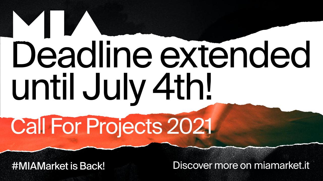 Il termine della Call for Projects è posticipato al 4 luglio